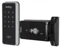Fechadura digital fr200 touch screen senha ou cartão a pilha  automatiza intelbras - Intelbras