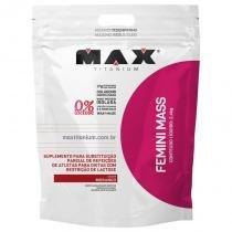 Femini mass 2,4kg max titanium - hipercalorico - Morango - Max titanium