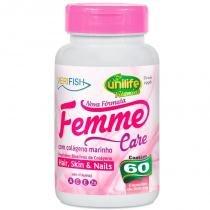 Femme Care com Colágeno Marinho 60 cápsulas Unilife - Unilife