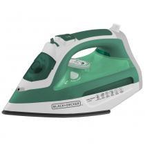 Ferro de Passar a Vapor e a Seco BlackDecker Ceramic Gliss AJ3030 - Verde e Branco - Black  decker