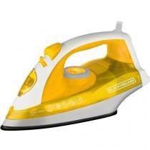 Ferro de Passar a Vapor e a Seco BlackDecker - X5601B2 Amarelo e Branco