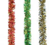 Festão metálico bicolor 6 fitas 9 cm x 2 m com 6 - Yangzi