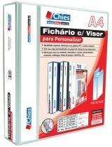 Fichário Chies Visor para Personalizar 4 Argolas A4 Ferragem 40 D Branca 1379-3 -