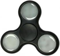 Fidget Hand Spinner LED Finger Toy Anti stress Azul Preto - X-Zhang