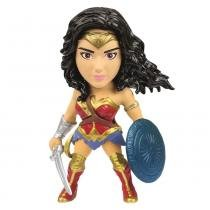 Figura Colecionável 10 Cm - Metals - DC Comics - Wonder Woman - DTC -
