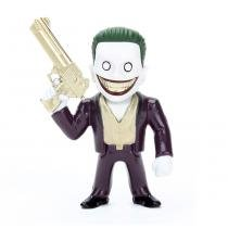 Figura colecionável 6 cm - metals - dc comics - suicide squad - the joker boss black - dtc -