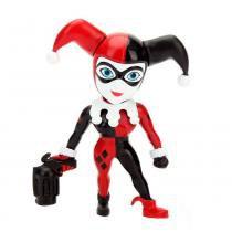 Figura colecionável 6 cm - metals - dc super hero girls - harley quinn clássica - dtc -