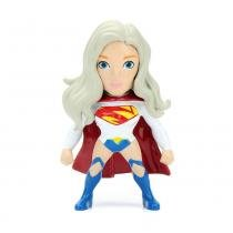 Figura Colecionável 6 Cm - Metals - DC Super Hero Girls - Supergirl Branca - DTC - DTC