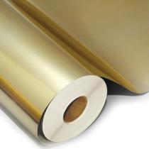 Filme poliéster ouro para impressão digital solvente e eco solvente bobina de 100 cm x 25 metros - Aplike