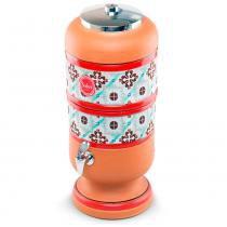 Filtro de Água de Barro Decorado Tex Azulejo com Vela Salus 2 Litros - Salus