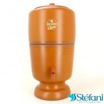 Filtro de Água de Barro Purificador Doméstico Classic São João com 2 Velas Tripla Ação 8 Litros - São João