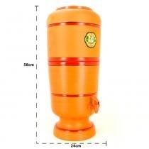 Filtro de Água de Barro São João Tradicional 6 Litros + 1 Vela Tradicional Grátis - São João