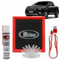 Filtro de Ar Esportivo Inflow Inbox Jeep Renegade 1.8 Compass 2.0 Fiat Toro 1.8 Diesel Flex HPF8695 -