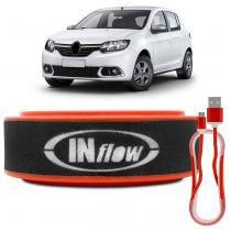 Filtro de Ar Esportivo Inflow Inbox Renault Sandero 1.6 8V Logan 1.6 8V Symbol 1.6 8V HPF6675 -