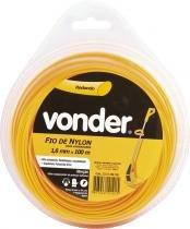 Fio de nylon 1,6mmx100m redondo para roçadeiras e aparadores - Vonder - Vonder