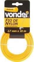 Fio de nylon 2,7mmx10m redondo para roçadeiras e aparadores - Vonder - Vonder