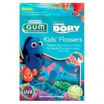 Fio Dental Kids GUM Flossers Dory 40 Unidades -