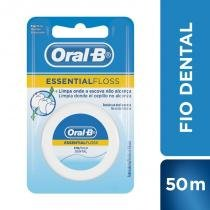 Fio dental oral-b essential floss encerado 50m -