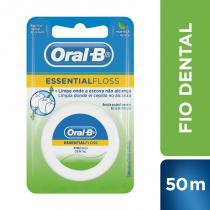 Fio dental oral-b essential floss encerado menta 50m -