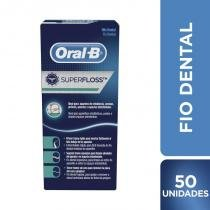 Fio dental oral-b super floss - 50m - Oral b