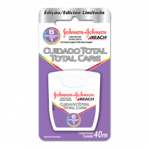 Fio dental reach johnsons  johnsons 40m cuidado total care 1 unidade -
