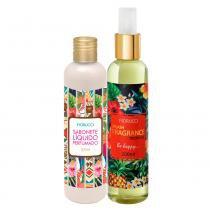 Fiorucci Splash Fragrance Tropical Kit - Deo Colônia + Sabonete Líquido -