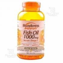 Fish Oil - Óleo de Peixe (1000mg) 180 Cápsulas Softgels - Sundown - 180 Softgels -