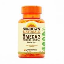 Fish Oil - Óleo de Peixe - 60 Cápsulas - Sundown -