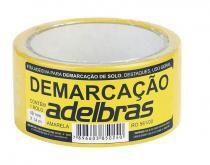 Fita de demarcação de solo amarela 48 mm x 14 m adelbrás - Adelbras