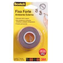 Fita dupla face fixa forte 4411 scotch uso externo 24mmx1,5m - 3m