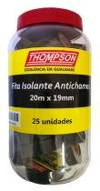 Fita Isolante 20 m x 19 mm Thompson Pote com 25 - Comprenet