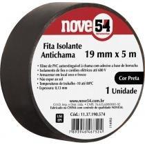 Fita isolante pvc 19mmx05m preta anti chama - Nove54 -