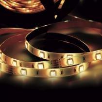 Fita LED 2,5W 30 LEDs/metro 3m 12V IP20 Taschibra 3000K Luz Amarela -