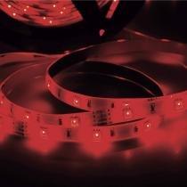 Fita LED 2,5W 30 LEDs/metro 5m 12V com Fonte Bivolt IP20 Taschibra Vermelho -