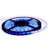 Fita LED à prova dágua - 60 LEDsm - 5 metros com fonte - Azul - Efatha