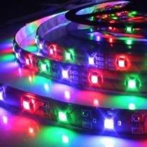 Fita LED RGB 3528 12v 300 Leds Ip65 Colorida 5 Metros Controle RGB - Ddy