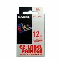 Fita Rotulador Casio XR-12WER1 12mm Vermelho/Branco KL60 KL120 -