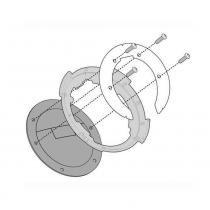 Flange Givi BF08 para Bolsa de Tanque Ducati - Givi
