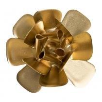 Flor Metal Dourada Quarto Bebê Infantil Menina Menino - Potinho de mel