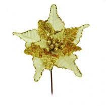 Flores Cabo Médio Flor Ouro 44 X 24 Cm - Cromus