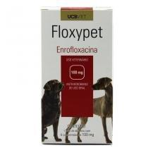 Floxypet 100mg 6 comp UCBVet Antibiótico Cães -