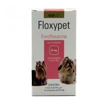 Floxypet 25mg 50 comp UCBVet Antibiótico Cães -