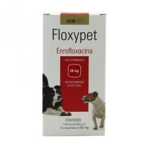Floxypet 50mg 10 comp UCBVet Antibiótico Cães -