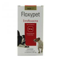 Floxypet 50mg 10 comp UCBVet Antibiótico Cães - UCBVet