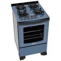 Fogão 4 Bocas Dako Azul com Grill  - Dakolors DP4VTP-ZC0 4Q