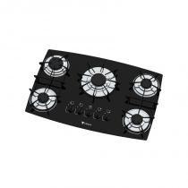 Fogão 5 bocas cooktop preto venax bivolt - Cooktopvenax