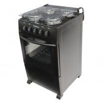 Fogão a Gás 4 Bocas Black Top Glass - Braslar Eletrodomésticos