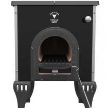 Fogão a lenha campeiro com forno - Preto - Venax