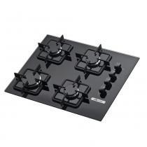 Fogão cooktop 4 bocas preto - Built