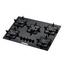 Fogão cooktop 5 bocas preto - Built